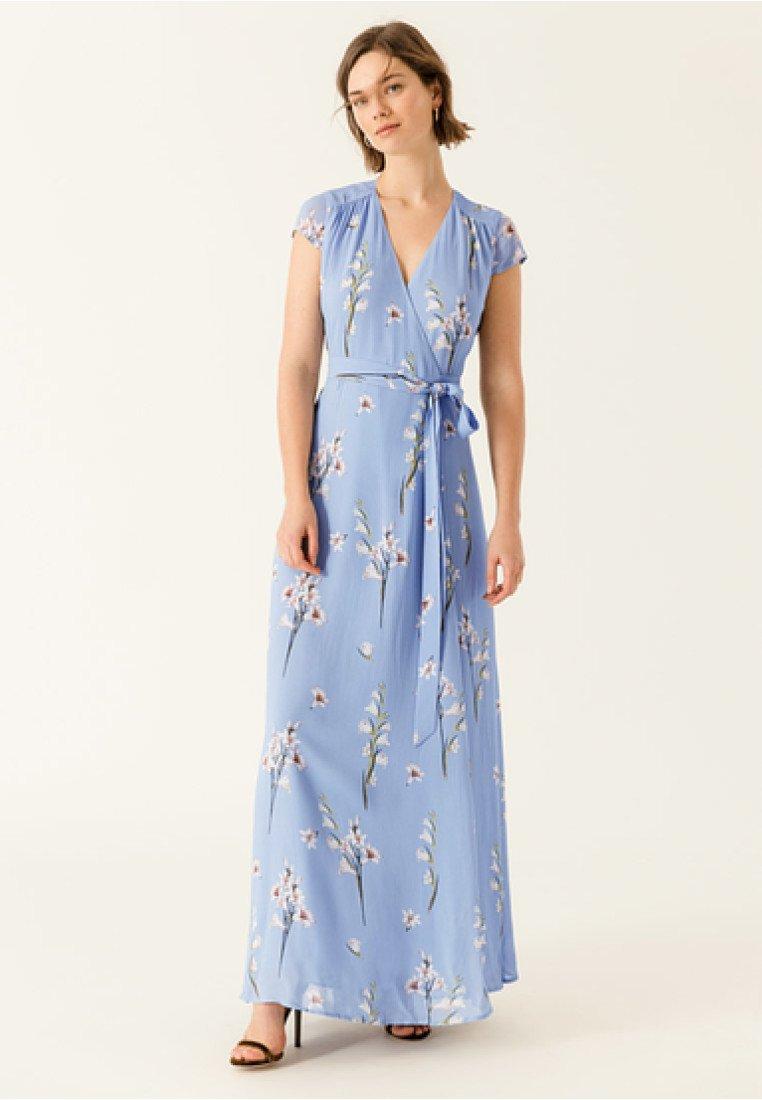 IVY & OAK - WRAPPED PRINT LONG DRESS - Maxi dress - serenity blue