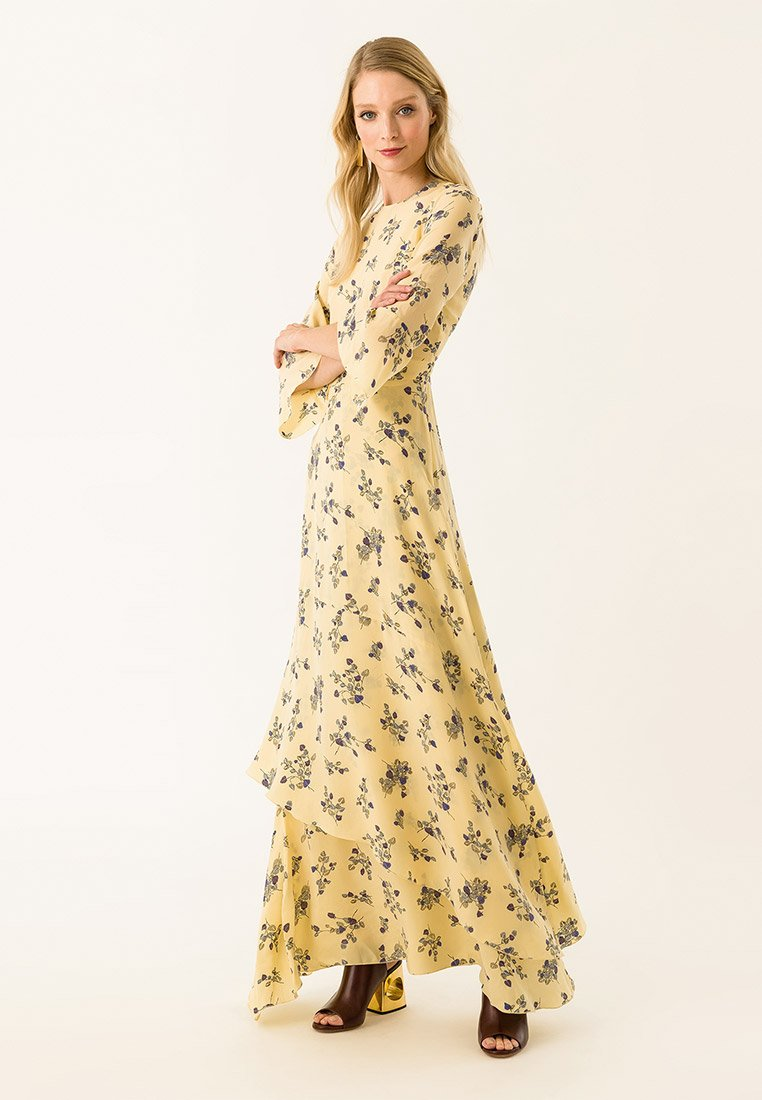 IVY & OAK - LONG PRINTED DRESS - Vestito lungo - pale citrus