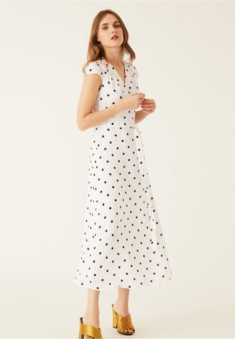 IVY & OAK - POLKA DOT WRAP DRESS - Maxi dress -  white