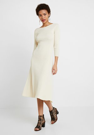 MIDI FLARED DRESS - Jumper dress - light sand