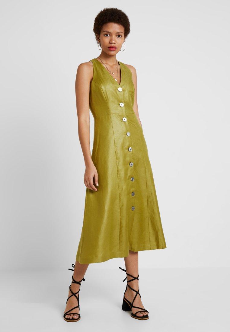 IVY & OAK - DRESS BUTTON PLACKET - Blusenkleid - leaf green