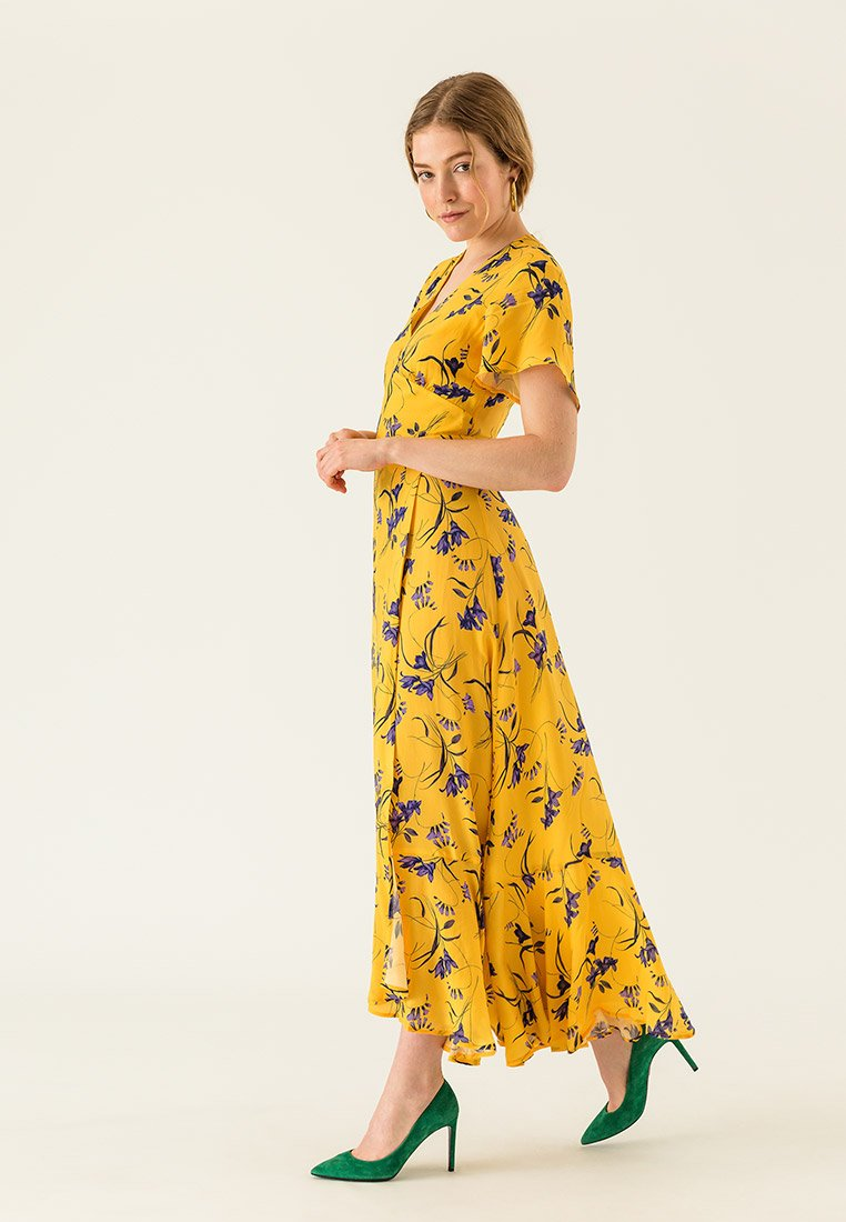 IVY & OAK - ANCLE LENGTH VALANCE DRESS - Vestido largo - sun yellow