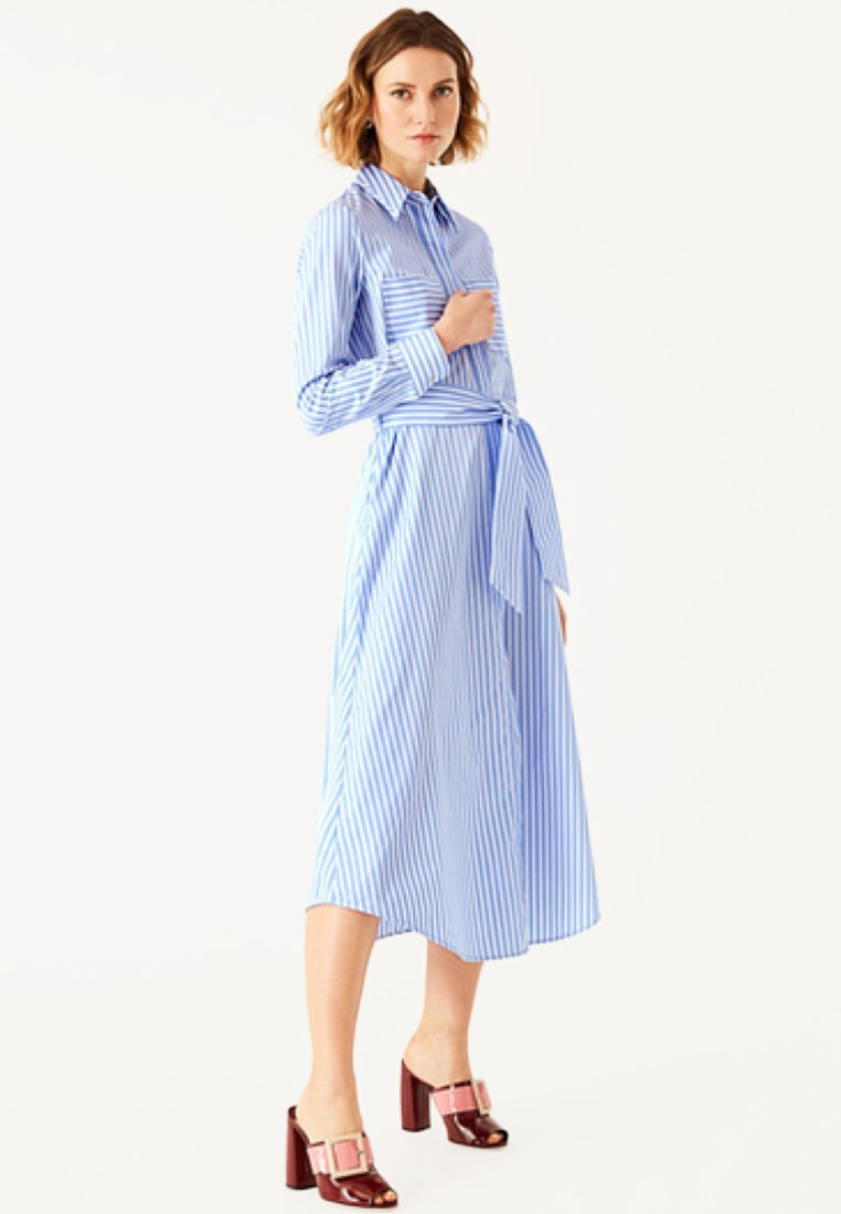 IVY & OAK - Blusenkleid - blue