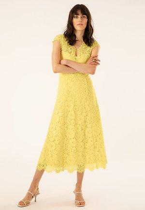 FLARED DRESS CAP SLEEVE - Vestido de fiesta - sunshine yellow
