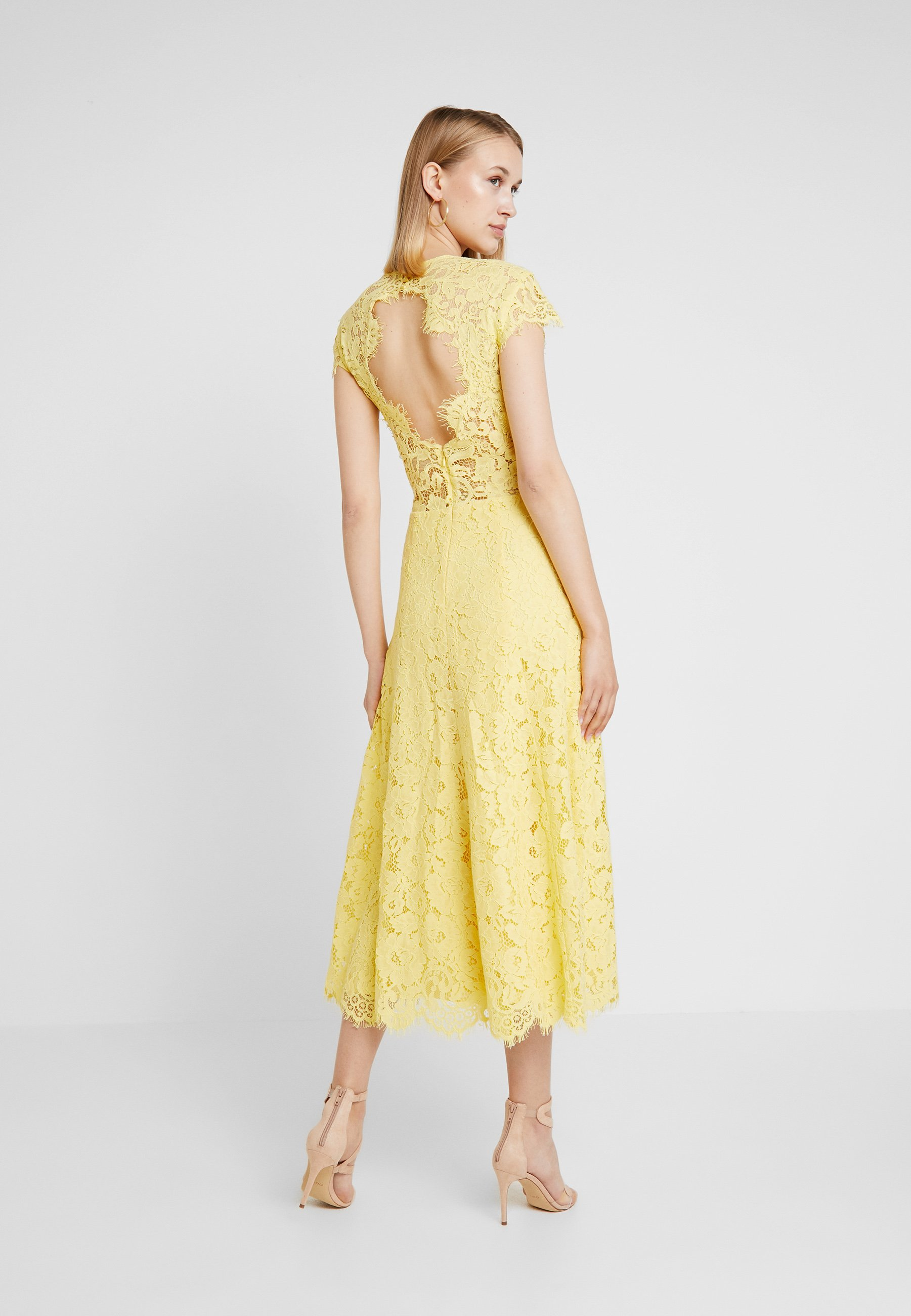 Oak Cap Ivyamp; Dress Flared Yellow Cocktail Sunshine SleeveRobe De IvgfbyY76