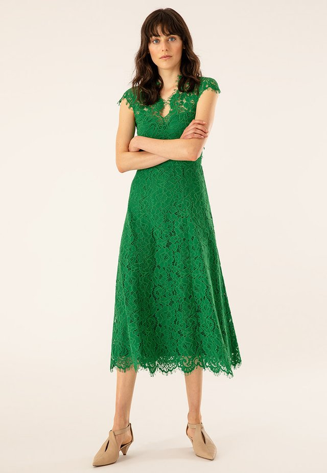 FLARED DRESS CAP SLEEVE - Occasion wear - secret garden green