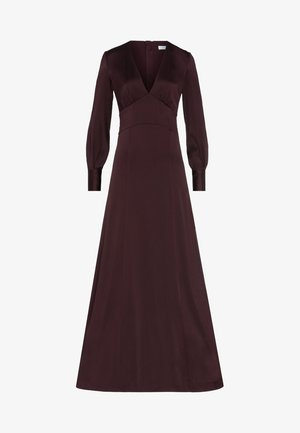 DRESS LONG SLEEVE - Robe de cocktail - rouge noir