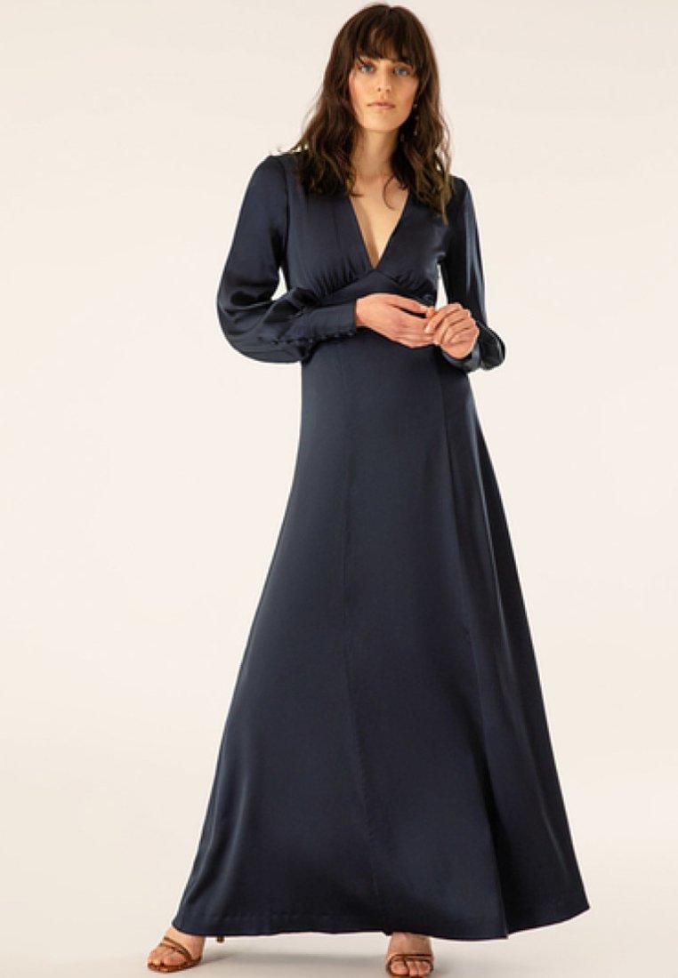 Dark Long Oak Cocktail Dress De SleeveRobe Ivyamp; Blue 5jR4AL