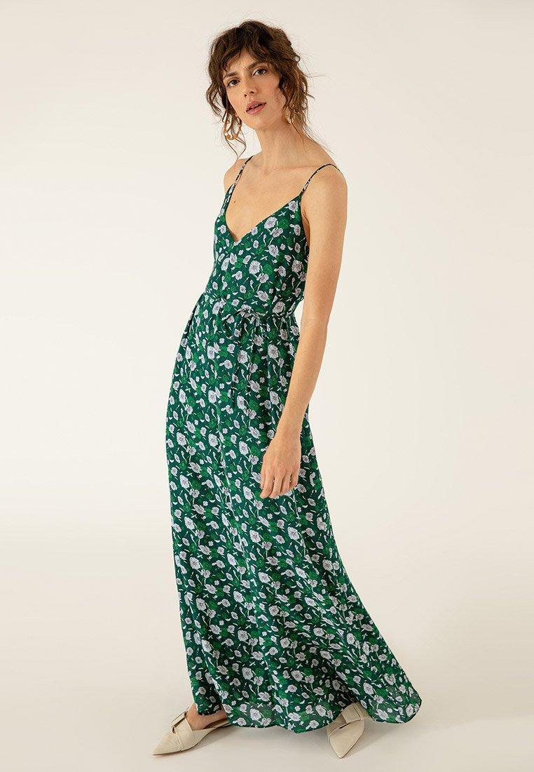 IVY & OAK - Robe longue - dark green