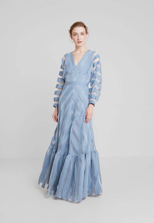 VOLANT DRESS - Abito da sera - mineral blue