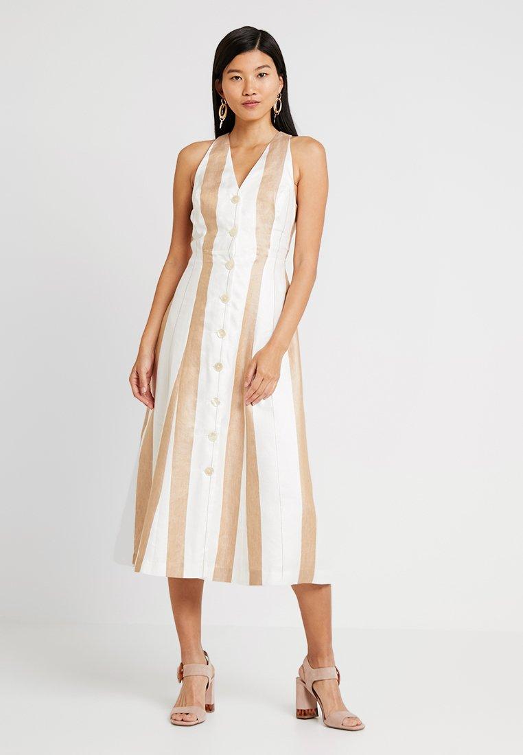 IVY & OAK - DRESS BUTTON PLACKET - Vestido camisero - beige