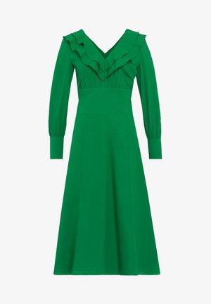 Robe longue - secret garden green