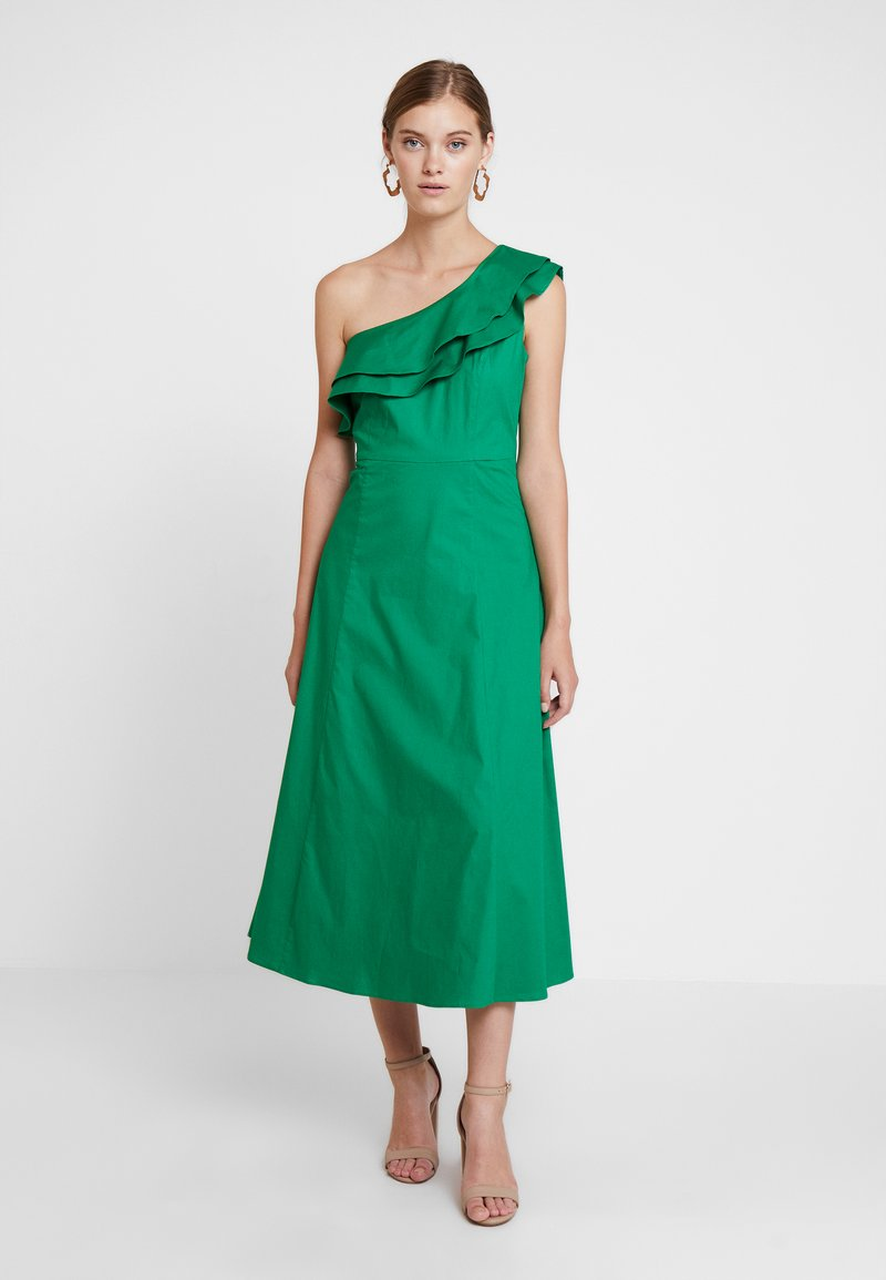 IVY & OAK - ONE SHOULDER VALANCE DRESS - Maxikleid - secret garden green