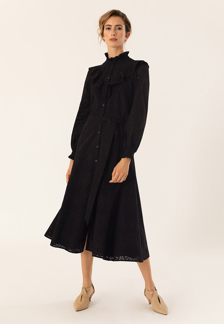 IVY & OAK - VALANCE - Shirt dress - black
