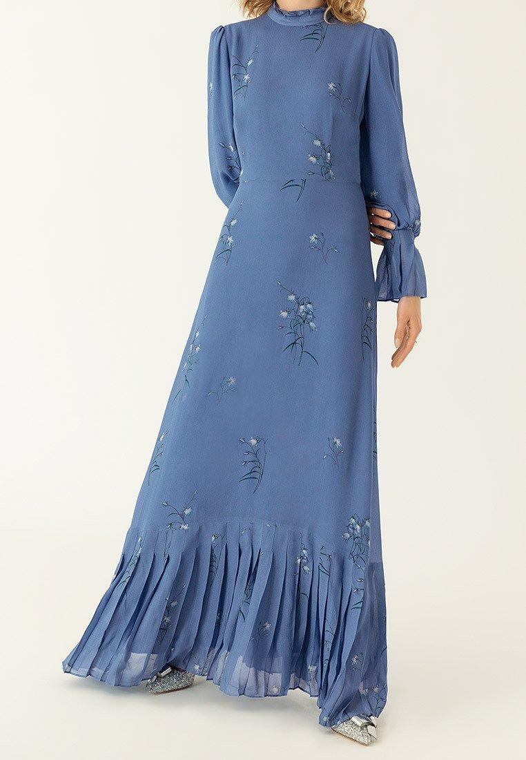 IVY & OAK - PLISSÉ - Maxi dress - parisian blue