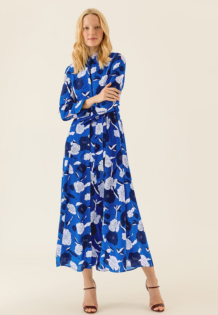 IVY & OAK - Vestido largo - blue