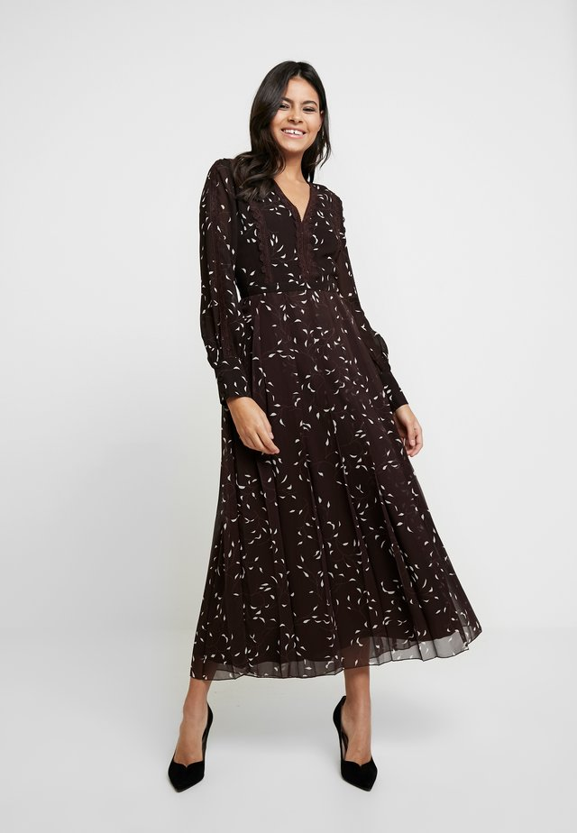 Maxi-jurk - dark chocolate