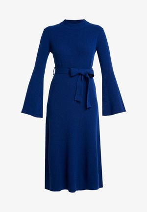 MIDI DRESS - Stickad klänning - blue iris