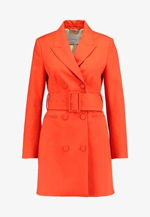 WITH BELT - Day dress - mandarin red