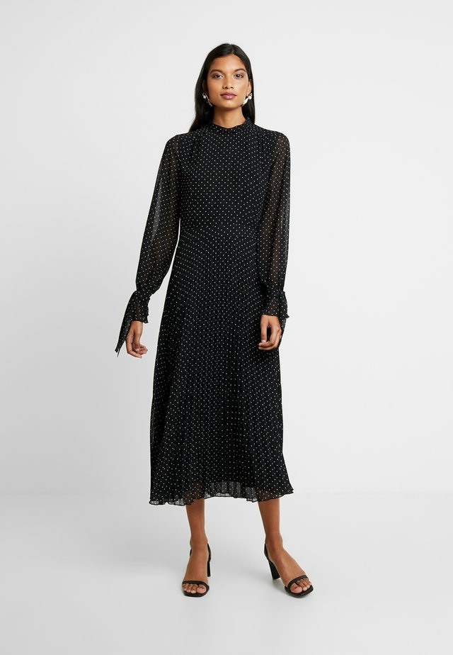 PLEATED DRESS - Day dress - black