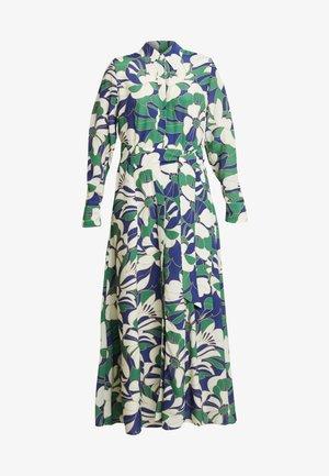 SHIRT DRESS MIDI - Vestido largo - green flower