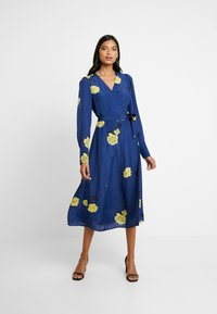 IVY & OAK - WRAP DRESS MIDI - Day dress - blue - 2