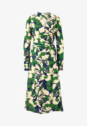 WRAP DRESS MIDI - Day dress - dark green