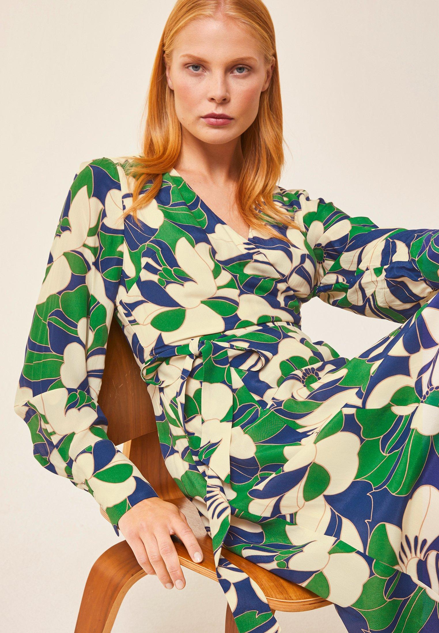 Ivy & Oak Wrap Dress Midi - Vestito Estivo Dark Green c0h77