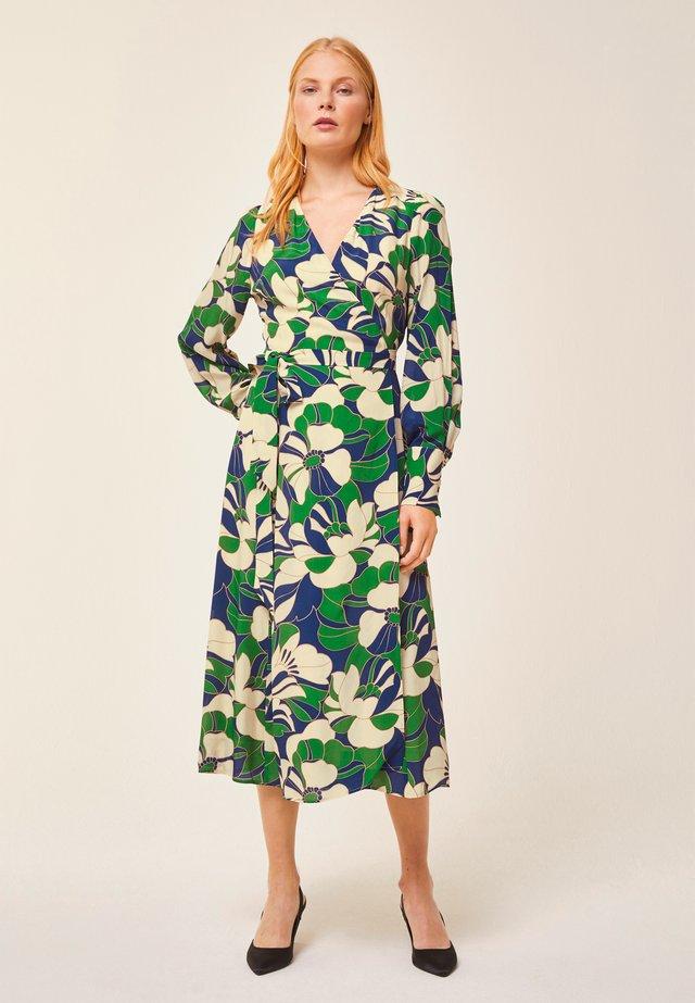 WRAP DRESS MIDI - Korte jurk - dark green