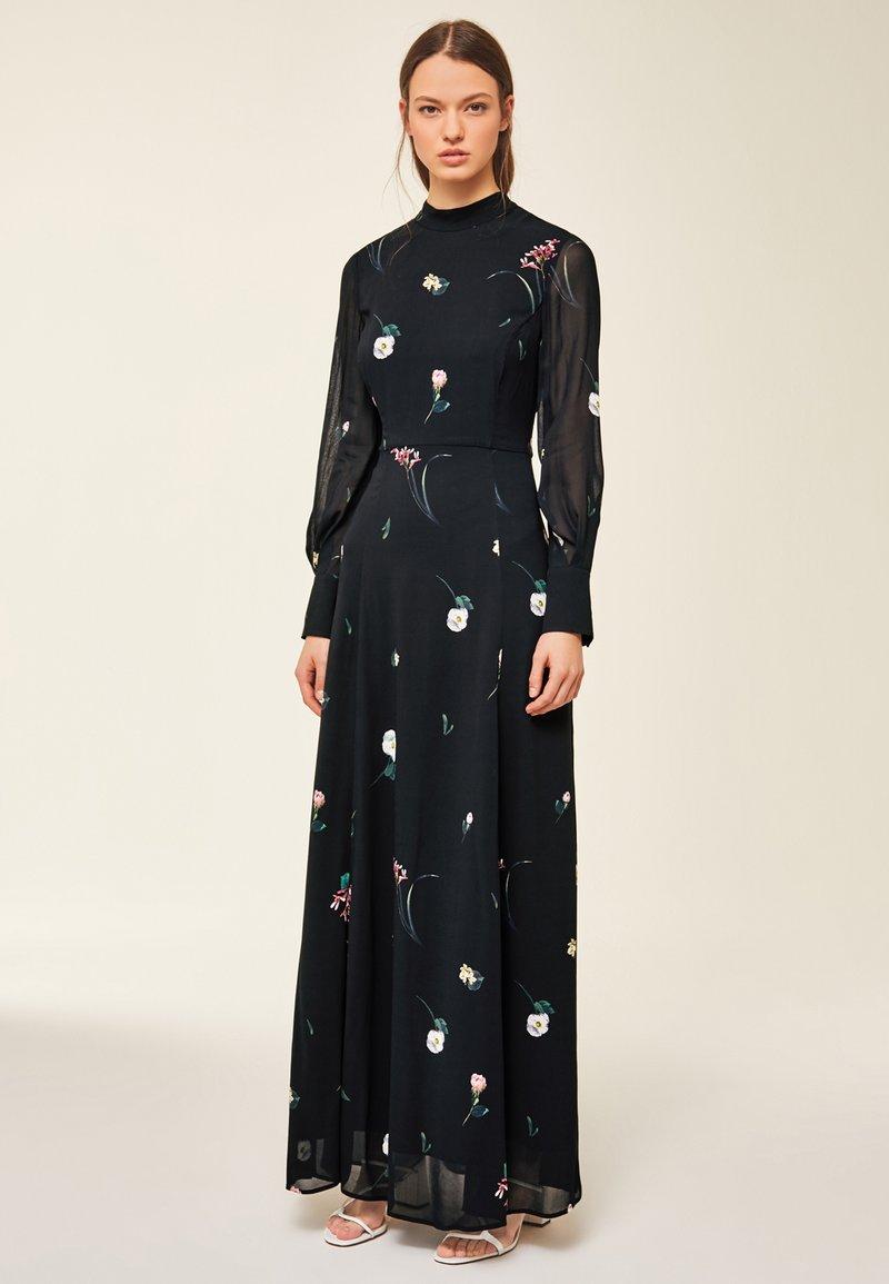 IVY & OAK - PRINTED DRESS - Vestito lungo - black