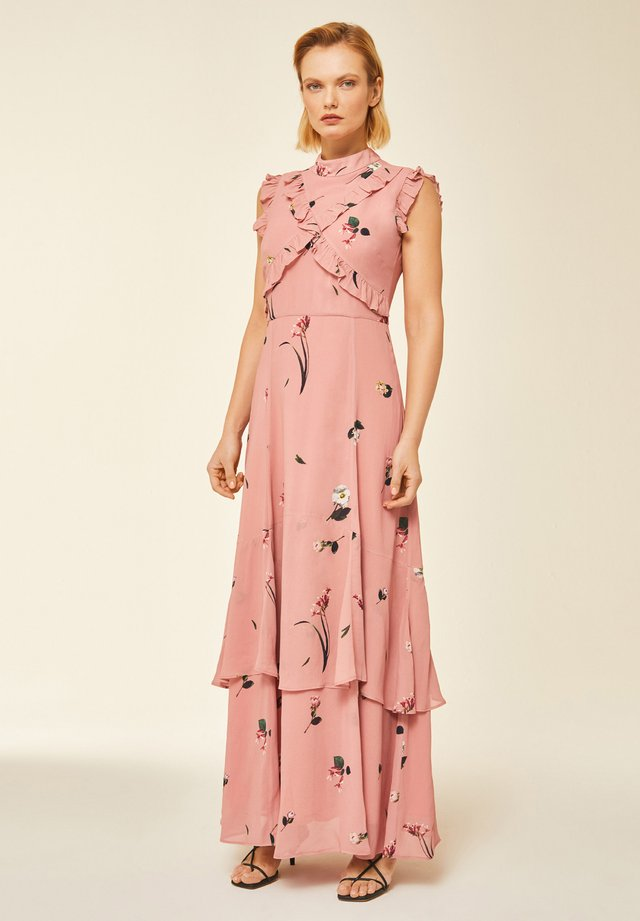 RUFFLED  - Długa sukienka - aop - digital pastel coral