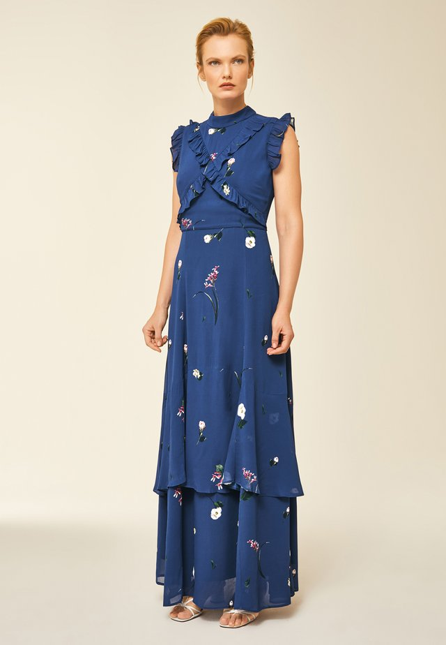 RUFFLED  - Maxi dress - indigo