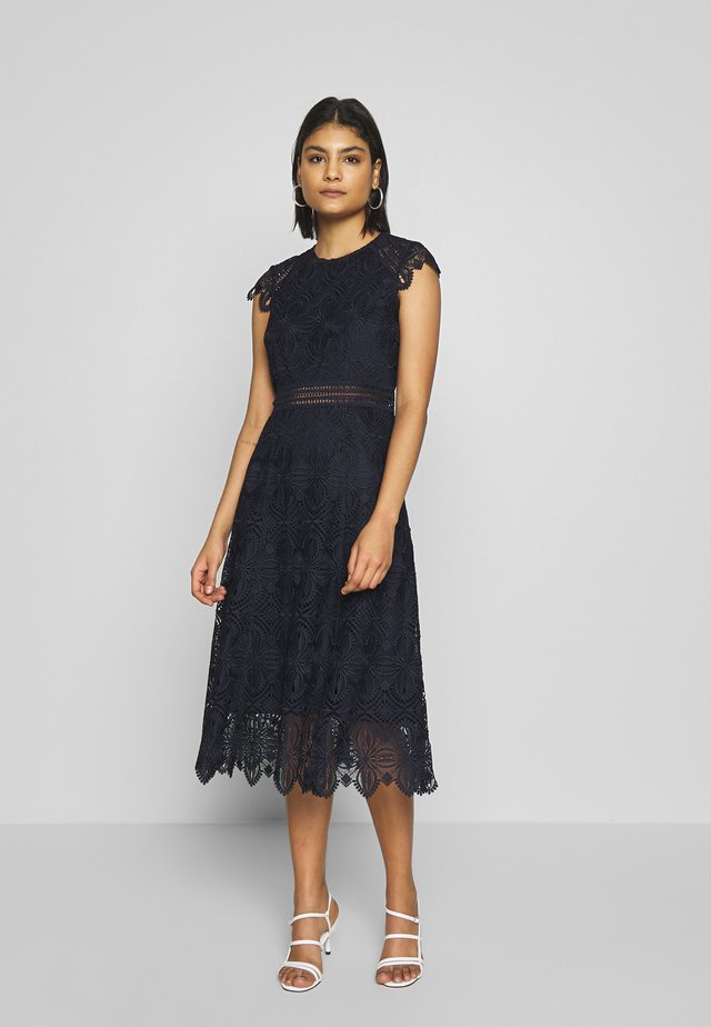 DRESS MIDI - Day dress - navy blue