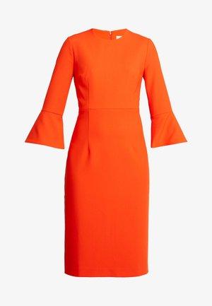 TRUMPET SLEEVE DRESS - Tubino - mandarin red