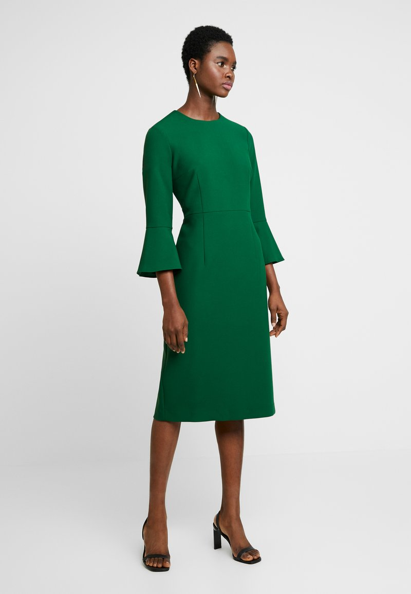 IVY & OAK - TRUMPET SLEEVE DRESS - Sukienka etui - eden green