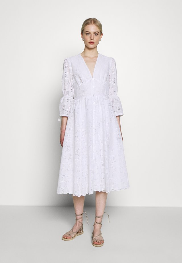 BROIDERY ANGLAISE DRESS - Day dress - bright white