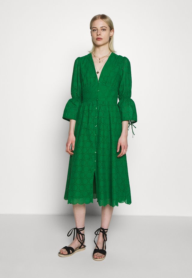 BROIDERY ANGLAISE DRESS - Kjole - secret garden green