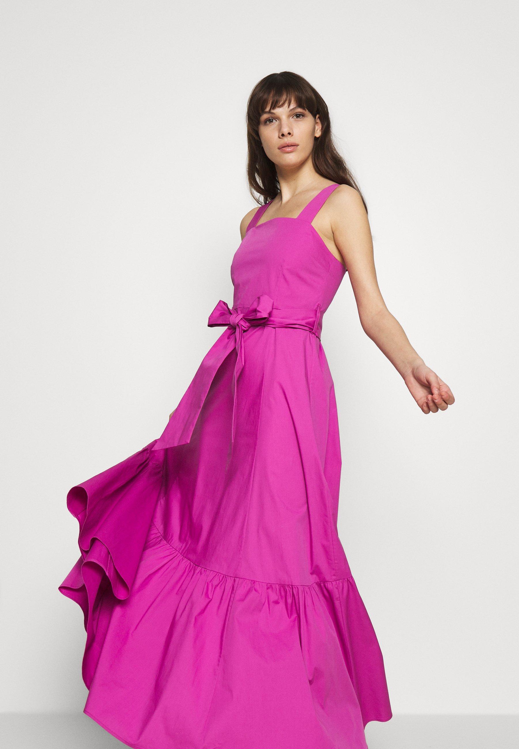Ivy & Oak Strap Dress Ankle Length - Day Super Pink UK
