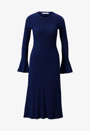 Gebreide jurk - indigo
