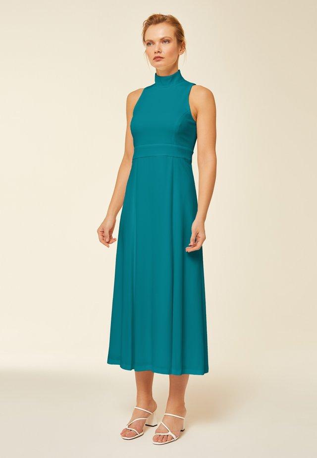MIT STEHKRAGEN - Freizeitkleid - turquoise blue