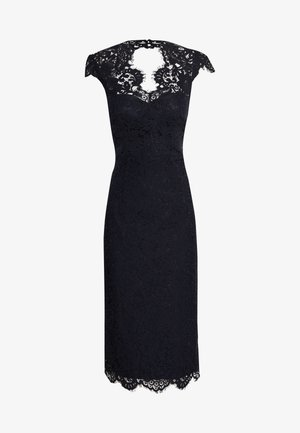 SHIFT DRESS MIDI - Vestito elegante - navy blue