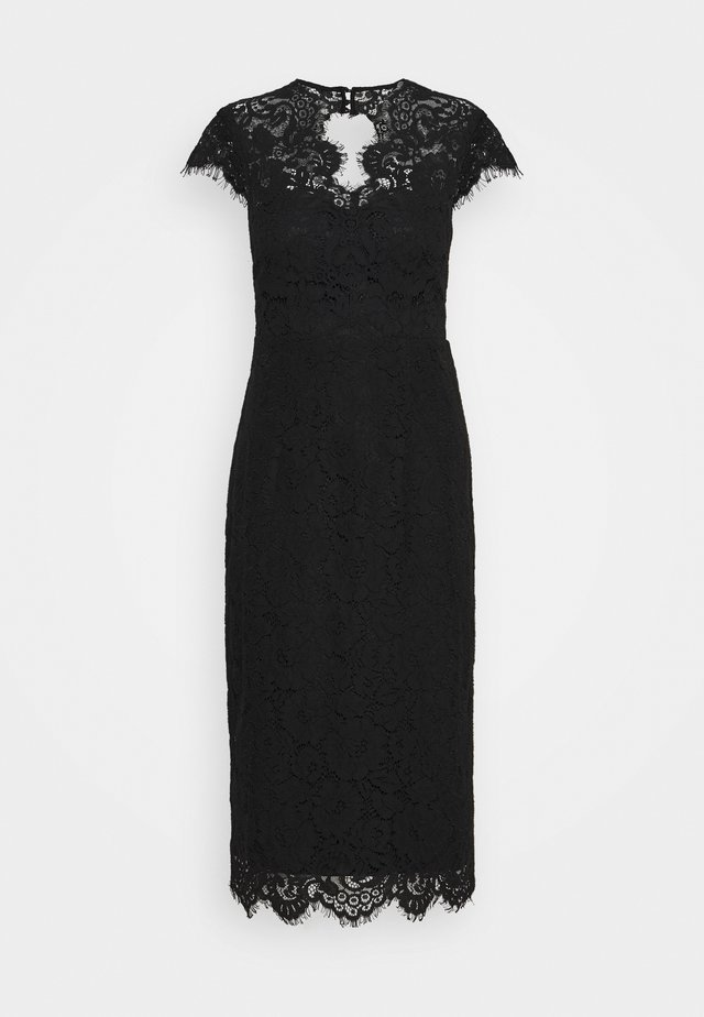 SHIFT DRESS MIDI - Juhlamekko - black