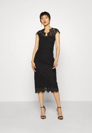 SHIFT DRESS MIDI - Vestito elegante - black