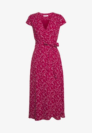 WRAP DRESS MIDI LENGTH - Korte jurk - cassis sorbet
