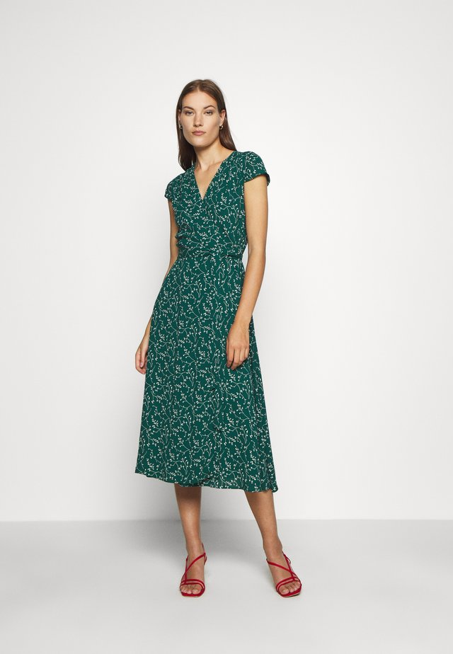 WRAP DRESS MIDI LENGTH - Kjole - leaf eden green