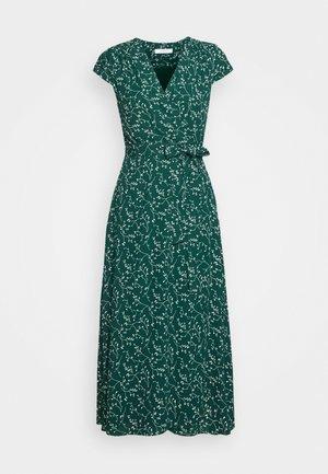 WRAP DRESS MIDI LENGTH - Day dress - leaf eden green