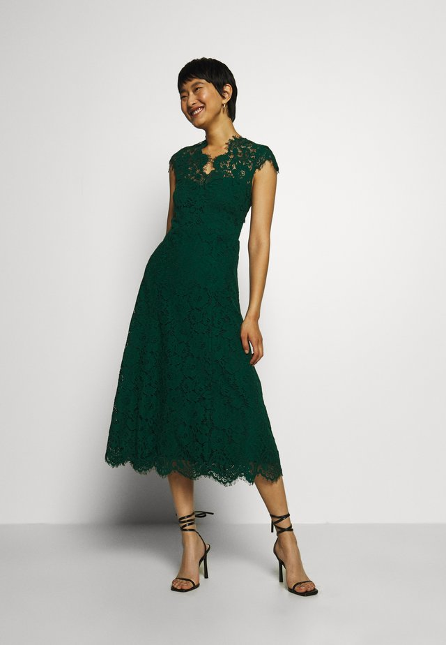 DRESS MIDI - Juhlamekko - eden green