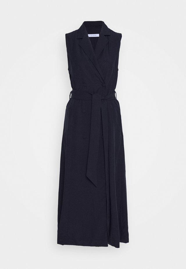 LAPEL COLLAR DRESS ANKLE LENGTH - Etuikleid - navy blue