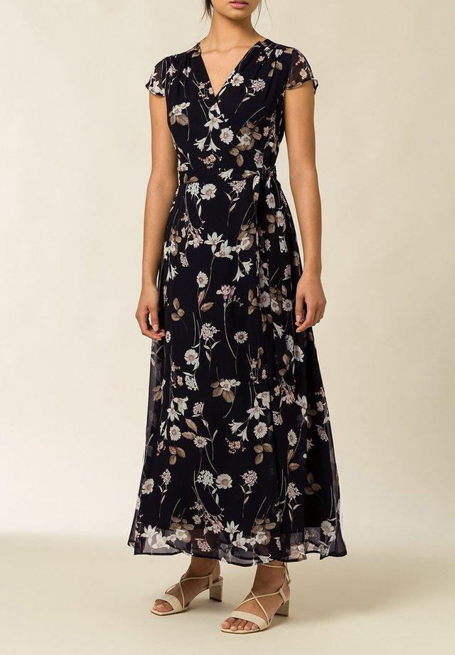 Vestido largo - aop - branche flowers black