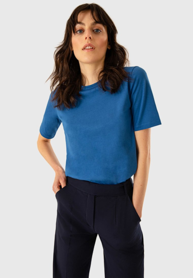 IVY & OAK - ROUND NECK - T-shirt - bas - brilliant blue